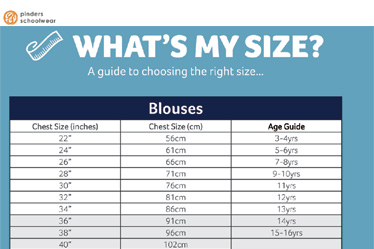 Blouses Size Guide